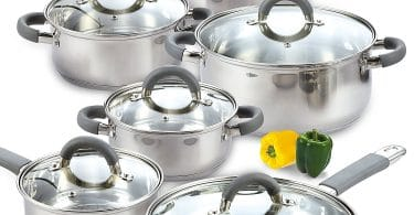 Cook N Home 12 Piece Stainless Steel Cookware Set Review