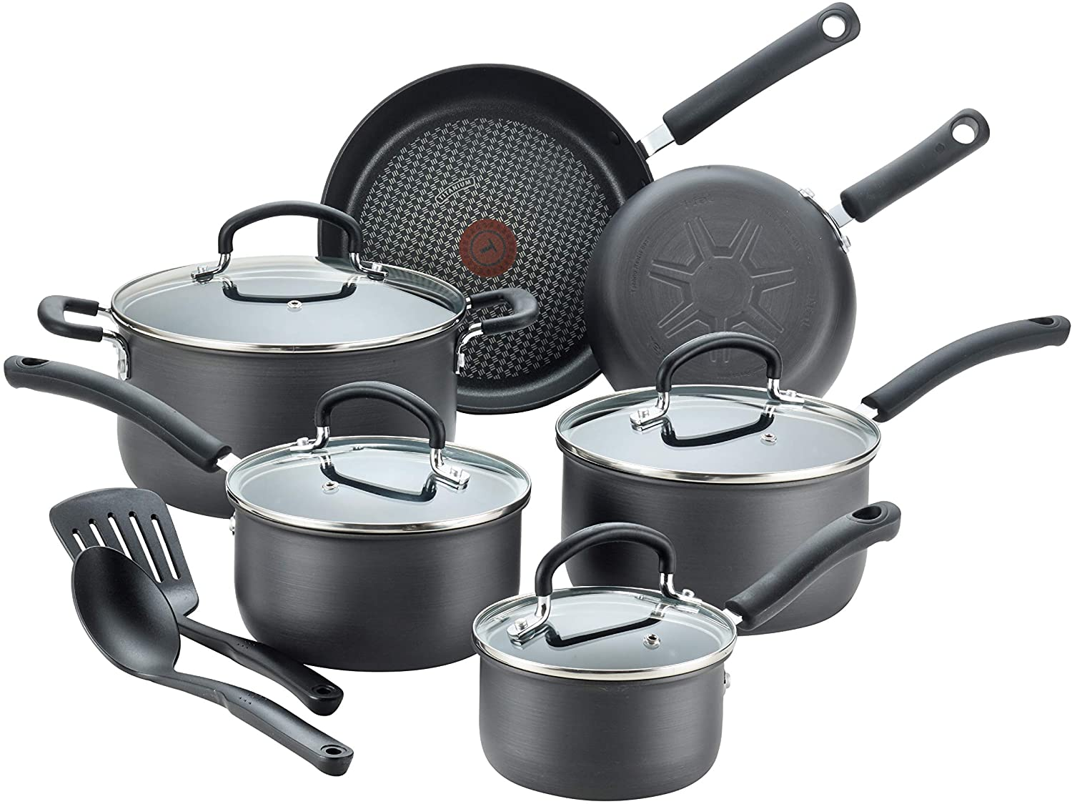 T-fal E765SC Hard Anodized Cookware for Glass Top Stoves Image