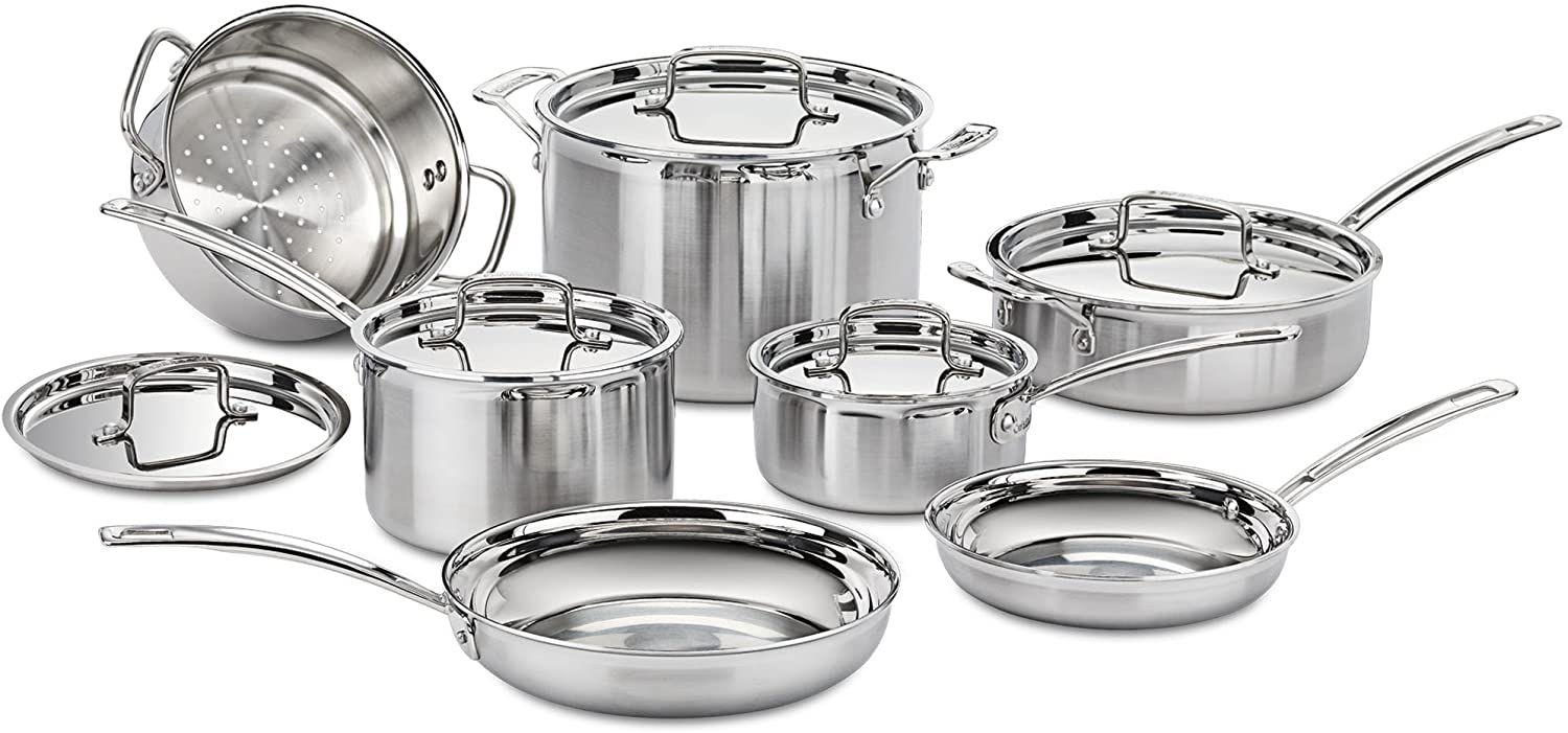 Cuisinart Multiclad Pro Stainless Steel Cookware for Glass Top Stoves Image