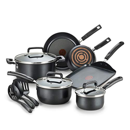 T-fal C530SC Signature Nonstick Dishwasher Safe Cookware Set Image