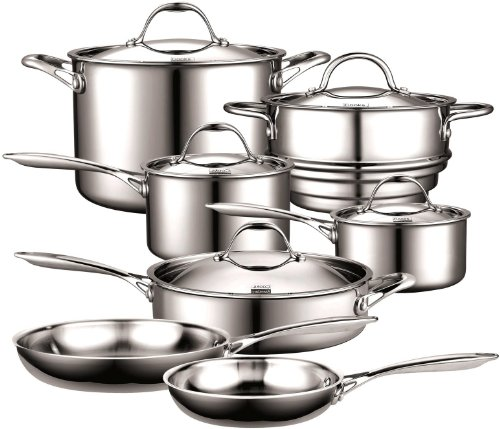 Cooks Standard NC-00232 12-Piece Multi-Ply Clad Stainless-Steel Cookware Set Image