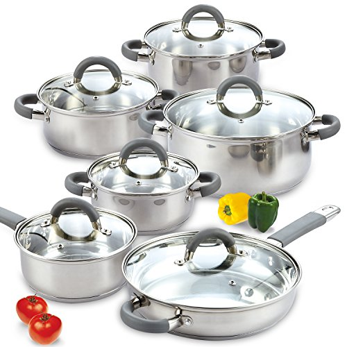 Cook N Home 12 Piece Stainless Steel Cookware Set Image