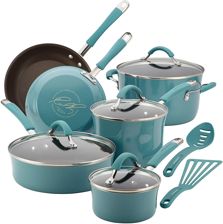 Rachael Ray 16344 Aluminum Nonstick Cookware Set