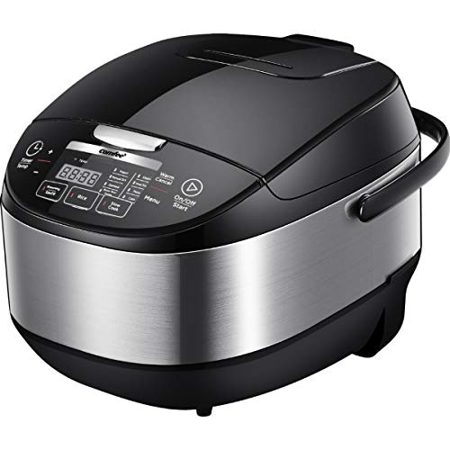 COMFEE' 20 cups Cooked (5.2Qt) Asian Style Programmable All-in-1 Multi Cooker, Rice Cooker, Slow cooker, Steamer, Sauté, Yogurt maker, Stewpot with 24 Hours Delay Timer and Auto Keep Warm Functions Image