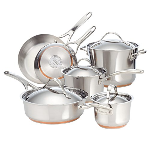 Anolon Nouvelle Copper Stainless Steel Cookware Set Image
