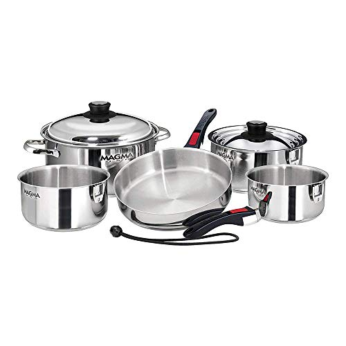Magma 10 Piece Gourmet Nesting Stainless Steel Cookware Set Image